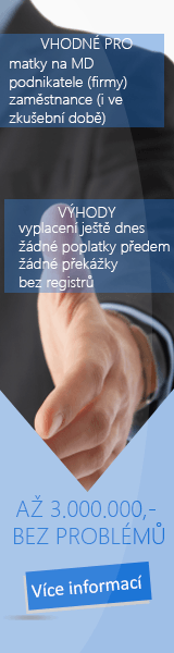 Půjčka online a bez registru - Online půjčka České Velenice, inzerce půjček České Velenice - Podnikatelská půjčka Břeclav