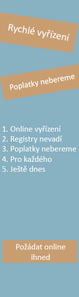 Online půjčka bez registru - Rychlá půjčka Sezimovo Ústí, nabídka půjček Sezimovo Ústí - Půjčka na OP Kutná Hora