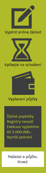 Rychlá nebankovní půjčka pro každého - Online půjčka České Velenice, inzerce půjček České Velenice - Hypotéka bez doložení příjmu Jeseník