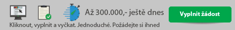 300.000,- Kč ještě dnes - uspornakreditka.cz - Rychlá půjčka Městec Králové, nabídka půjček Městec Králové - Půjčka na OP Vyškov