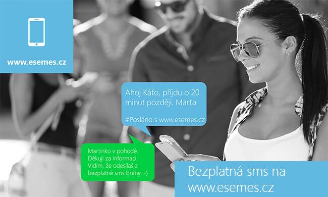 SMS zdarma do všech sítí, sms zdarma do O2, Vodafone a T-Mobile - www.esemes.cz